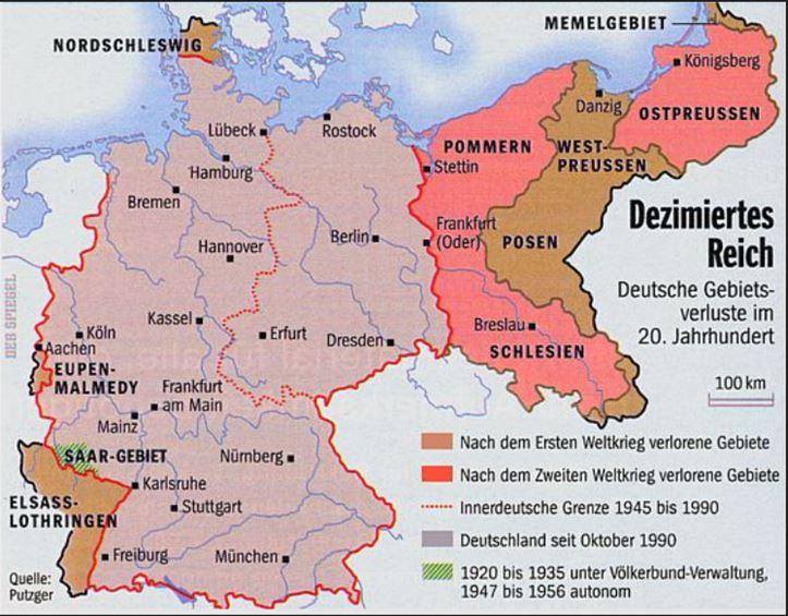 Bundesl303244nder Karte Ohne Namen.Drittes Reich Karte